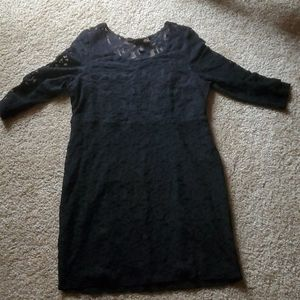 Bodycon Lace Black Dress